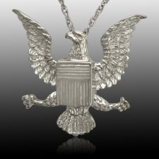 Military Eagle Cremation Pendant III