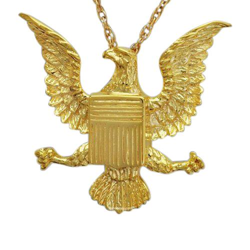 Military Eagle Cremation Pendant II