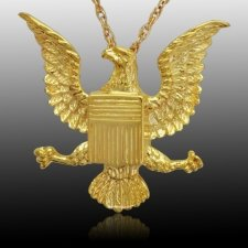 Military Eagle Cremation Pendant IV