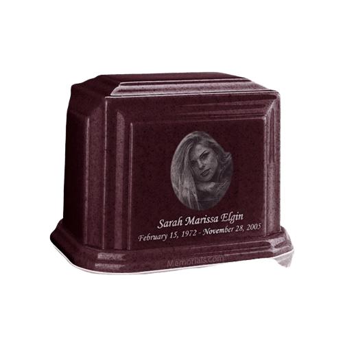 Millennium Burgundy Keepsake Marble Urn