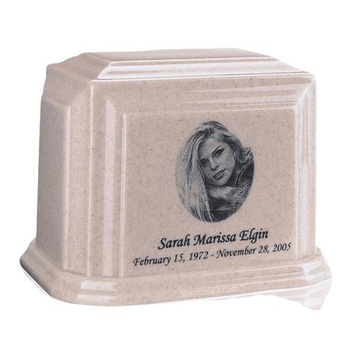 Millennium Cream Large Marble Urn