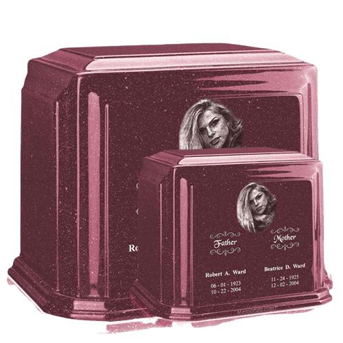 Millennium Raspberry Marble Urns