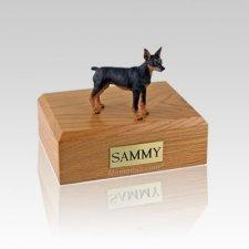 Miniature Pincher Black & Tan Medium Dog Urn