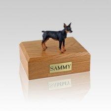 Miniature Pincher Black & Tan Small Dog Urn