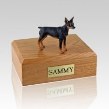 Miniature Pincher Black & Tan Dog Urns