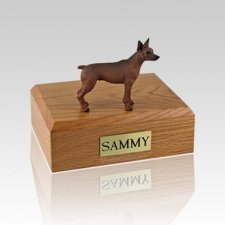 Miniature Pincher Red & Brown Large Dog Urn