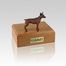 Miniature Pincher Red & Brown Small Dog Urn