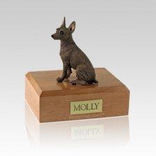 Miniature Pincher Red Medium Dog Urn