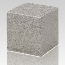 Mist Gray Cube Keepsake Cremation Urn