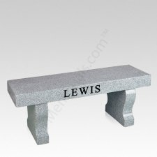 Modern Granite Cemetery Bench