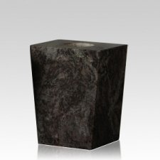 Black Satin Modern Granite Vase