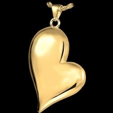 Mod Heart Cremation Pendant IV