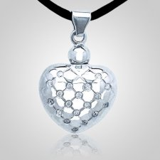 Modern Heart Cremation Pendant