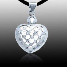 Modern Heart Keepsake Pendant