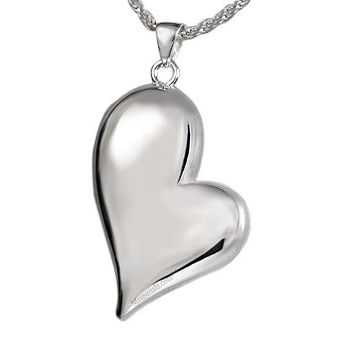 Mod Heart Cremation Pendant