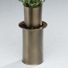 Moderne Antique Bronze Cemetery Vase