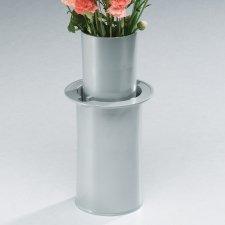 Moderne Silver Cemetery Vase