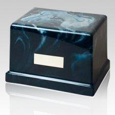 Moderno Azure Marble Cremation Urn