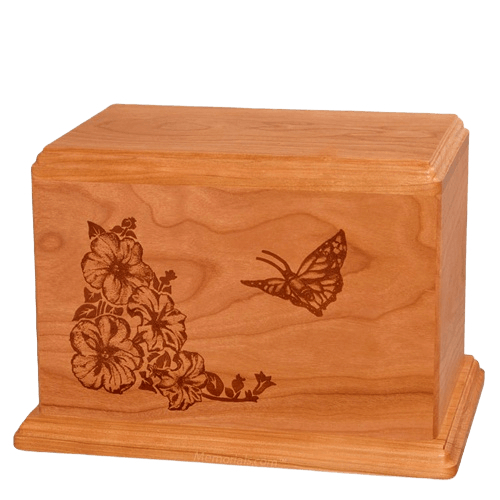 Monarch Companion Mahogany Wood Urn