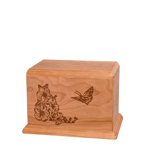 Monarch Small Cherry Wood Urn