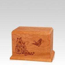 Monarch Small Mahogany Wood Urn