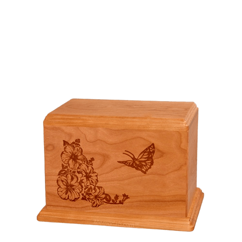 Monarch Small Mahogany Wood Urn