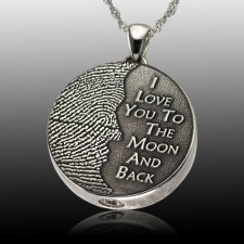 Moon Stainless Cremation Print Keepsake