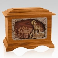 Moonlight Serenade Mahogany Cremation Urn