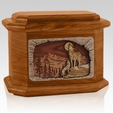 Moonlight Serenade Mahogany Octagon Cremation Urn