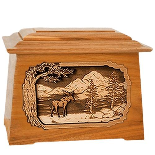 Moose Mahogany Aristocrat Cremation Urn