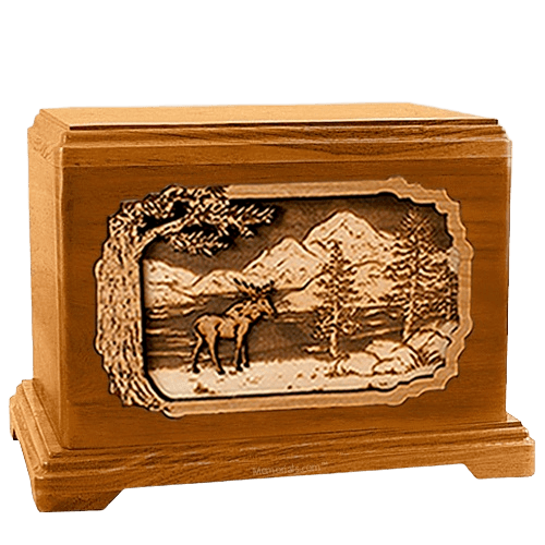 Moose Mahogany Hampton Cremation Urn