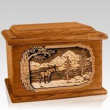 Moose Mahogany Memory Chest Cremation Urn