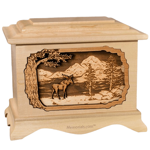 Moose Maple Cremation Urn