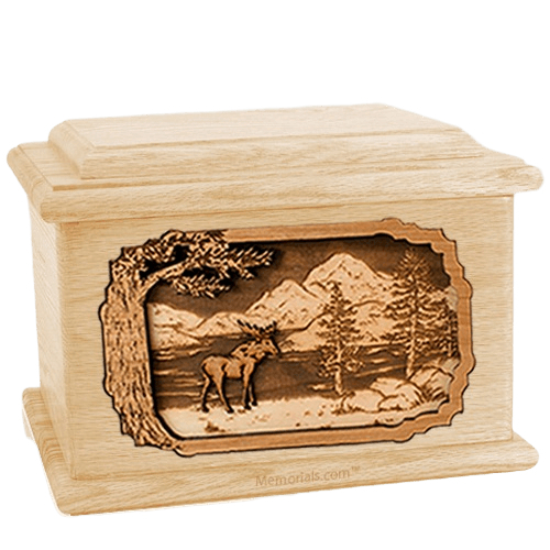 Moose Maple Memory Chest Cremation Urn