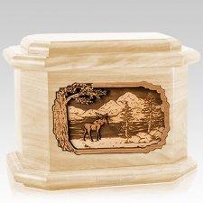 Moose Maple Octagon Cremation Urn