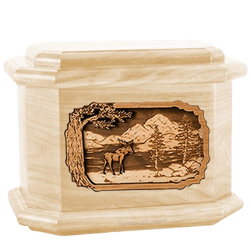 Moose Maple Octagon Cremation Urn