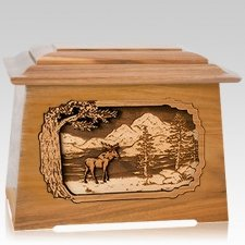 Moose Oak Aristocrat Cremation Urn