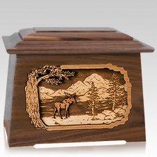 Moose Walnut Aristocrat Cremation Urn
