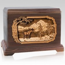 Moose Cremation Urns for Two
