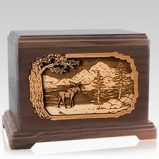 Moose Walnut Hampton Cremation Urn
