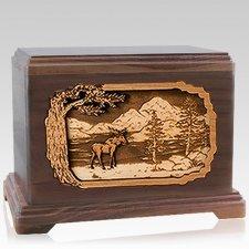 Moose Walnut Hampton Cremation Urn