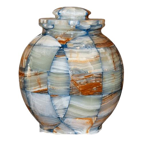 Mosaic Blue Cremation Urn