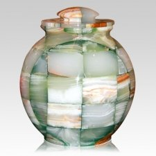 Mosaic Green Cremation Urn