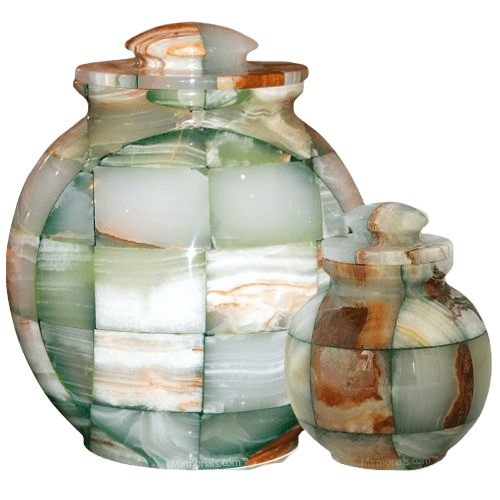 Mosaic Green Cremation Urns