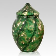 Moss Glass Pet Urn