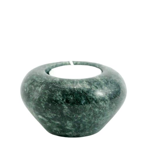 Moss Marble Candle Keepsake Urn