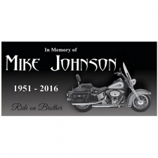 Motorcycle Granite Memorial Stone