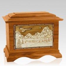 Mount Splendor Mahogany Cremation Urn