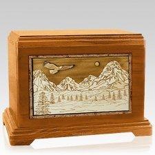 Mount Splendor Mahogany Hampton Cremation Urn
