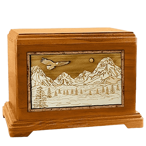 Mount Splendor Mahogany Hampton Cremation Urn